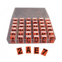 Accuform Signs - NAL601BKOR - Accuform Signs Black And Orange Reflective Letters And Numbers Label Kit, ( Each )