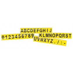 Accuform Signs - NCT262YL - Accuform Signs 1' Black And Yellow Deluxe Vinyl Consecutive Letter Kit 'A - Z' (30 Per Pack), ( Set )