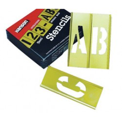 Accuform Signs - NSR922 - Accuform Signs Yellow Brass 92 Pieces Stencil With 2 Character, ( Each )