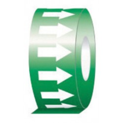Accuform Signs - RAW252GNWT - Accuform Signs 1 X 54' Green And White 6 mil Self-Adhesive Vinyl Directional Flow Arrow Tape, ( Roll )