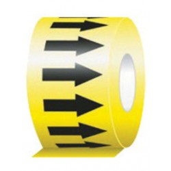 Accuform Signs - RAW254BKYL-EA - Accuform Signs 2 X 54' Black And Yellow 6 mil Self-Adhesive Vinyl Directional Flow Arrow Tape, ( Each )