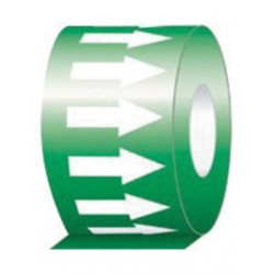 Accuform Signs - RAW254GNWT - Accuform Signs 2 X 54' Green And White 6 mil Self-Adhesive Vinyl Self-Stick Directional Flow Arrow Tape, ( Roll )