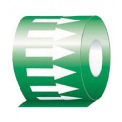 Accuform Signs - RAW451GNWT - Accuform Signs 1 X 108' Green And White 6 mil Self-Adhesive Vinyl Directional Flow Arrow Tape, ( Roll )