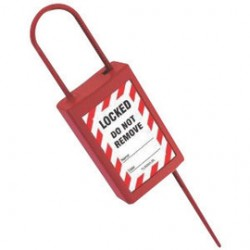 Accuform Signs - TLS202 - Accuform Signs Red Plastic Disposable Padlock Seal, ( Package )