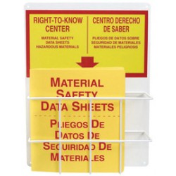 Accuform Signs - ZRS312 - Accuform Signs 20 X 15 Red And Yellow 0.063 Aluminum American English Basket Center Board RIGHT-TO-KNOW STATION MSDS, ( Each )