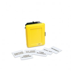 Allegro - 4400-Y - Allegro Small 18 X 14 X 9 1/2 Yellow ABS Generic Wall Case With Label Kit And (1) Shel, ( Each )