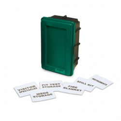 Allegro - 4500-G - Allegro Medium 21 X 14 X 9 1/2 Green ABS Generic Wall Case With Label Kit And (1) Shel, ( Each )