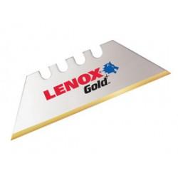 Lenox - 20352GOLD100D-PK - Lenox 2 1/2 White High Speed Steel Gold Bi-Metal Utility Knife Blade (100 Per Pack), ( Package )