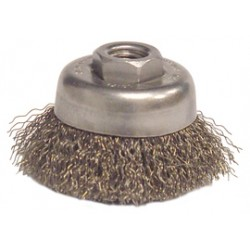 Anderson Brush - 10163 - Anderson Products 3' X 1/2' - 3/8 Steel Crimped Wire Cup Brush, ( Each )