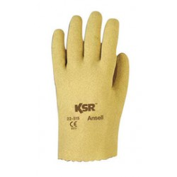 Ansell-Edmont - 103293-CA - Ansell Size 7.5 KSR Light Weight Vinyl Work Gloves With Tan Interlock Cotton Liner And Slip-On Cuff, ( Case of 144 )