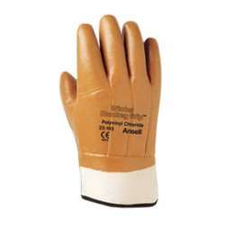 Ansell-Edmont - 104725-CA - Ansell Size 10 Orange Winter Monkey Grip Jersey Lined Cold Weather Gloves With Wing Thumb, Safety Cuff, PVC Fully Coated And Foam Insulation, ( Case of 72 )
