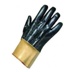 Ansell-Edmont - 103685-DZ - Ansell Size 9 Nitrasafe Heavy Duty Cut Resistant Black Nitrile Fully Coated Work Gloves With DuPont Kevlar And Jersey Liner And Gold Safety Cuff, ( Dozen of 12 )