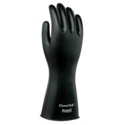 Ansell-Edmont - 103203-DZ - Ansell Size 9 Black ChemTek 14 14 mil Butyl Chemical Resistant Gloves With Rough Finish And Rolled Beaded Cuff, ( Dozen of 12 )