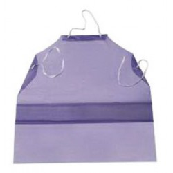 Ansell-Edmont - 105187-DZ - Ansell 33 X 54 Blue CPP CB Series 6 mil Vinyl Chemical Protection Apron With Raw Edge, ( Dozen of 12 )