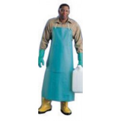 Ansell-Edmont - 105206-CA - Ansell 33 X 44 White CPP 18 mil Vinyl Heavy Duty Chemical Protection Apron With Stomach Patch, ( Case of 12 )