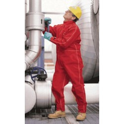 Ansell-Edmont - 105356 - Ansell 5X Tall Red Sawyer-Tower CPC Polyester Trilaminate And Gore Fabric Chemical Protection Coveralls, ( Each )