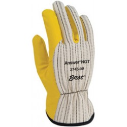Showa Best Glove - 2745-08-CA - SHOWA Size 8 Yellow Proprietary Work Gloves With Cotton Liner And Slip-On Cuff, ( Case of 72 )