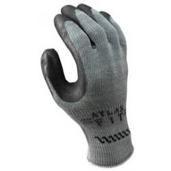 Showa Best Glove - 300BXL-10-DZ - SHOWA Size 10 ATLAS 10 Gauge Black Natural Rubber Work Gloves With Cotton/Polyester Liner And Knit Wrist, ( Dozen of 12 )