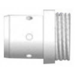 Abicor Binzel - 943.0170-PK - Abicor Binzel .030 - .062 White Diffuser/Insulator For 500 - 550 Amp Water Cooled ROBO WH 500T MIG Gun, ( Pack of 10 )