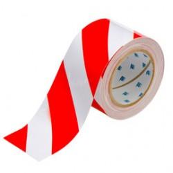 Brady - 104348-EA - Brady 3 X 100' Red/White Polyester ToughStripe Floor Marking Tape, ( Roll )