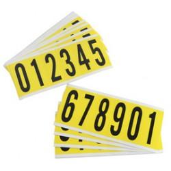 Brady - 34552 - Brady 3 1/2 X 1 1/2 Black/Yellow Coated Vinyl/Fabric Label 0 - 9, ( Package )