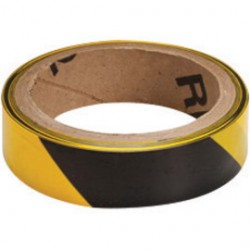 Brady - 91228 - Brady 1 X 100' Black/Yellow 2 mil Polyethylene Barricade Tape, ( Roll )