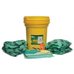Brady - 120834 - Brady 30 gal Drum HazWik Yellow Polypropylene Spill Kit, ( Kit )