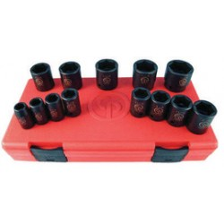 Chicago Pneumatic - 8940164465 - Chicago Pneumatic 7/16 - 1 1/4 1/2 Square Drive 13-Piece Socket Set, ( Each )