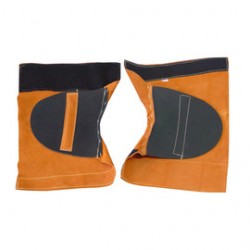 Chicago Protective Apparel - 401-CL-C - Chicago Protective Apparel 14 Rust Split Leather Leggings, ( Pair )