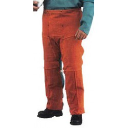 Chicago Protective Apparel - 555-CL-58W - Chicago Protective Apparel Size 5X Rust Split Leather Cowboy-Style Chaps, ( Pair )