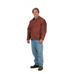 """Chicago Protective Apparel - 600-CL-3XL - Chicago Protective Apparel Size 3X 30"""" Rust Split Leather Jacket, ( Each )"""