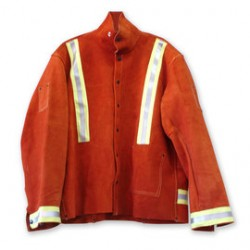 "Chicago Protective Apparel - 600-CL-YSRS-2XLT - Chicago Protective Apparel Size 2X Tall 32"" Rust Split Leather Jacket, ( Each )"