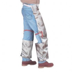 Chicago Protective Apparel - 778-CL - Chicago Protective Apparel Gray Split Leather Step-In Chaps, ( Pair )