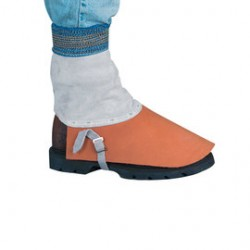 """Chicago Protective Apparel - E485-CL - Chicago Protective Apparel 7"""" Rust Split Leather Spats, ( Pair )"""