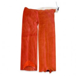 Chicago Protective Apparel - HL777-CL-SN - Chicago Protective Apparel Rust Split Leather Attached Hip Leggings, ( Each )