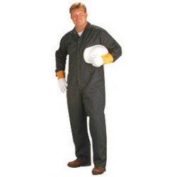 """Chicago Protective Apparel - WK-605-PC-N-56 - Chicago Protective Apparel Size 56"""" 3X Navy Blue 7.75 Ounce Polycotton Coveralls With Two Way Brass Front Zipper Closure, ( Each )"""