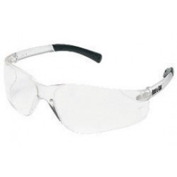 Crews - BK210 - Crews BearKat Small Safety Glasses With Clear Plastic Frame, Clear Polycarbonate Duramass Anti-Scratch Lens And Black Temple Sleeve