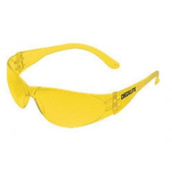 Crews - CL114 - Crews Checklite Safety Glasses With Amber Polycarbonate Frame And Amber Polycarbonate Duramass Anti-Scratch Lens