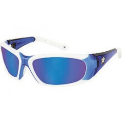 Crews - FF328B - Forceflex Blue Mirror Safety Glasses