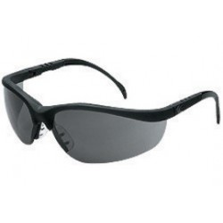 Crews - KD112AF - Klondike Black Frame Safety Glasses Grey Af Lens