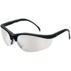 Crews - KD119AF - Crews Klondike Safety Glasses With Black Nylon Frame And Clear Indoor/Outdoor Mirror Polycarbonate Duramass AF4 Anti-Fog Anti-Scratch Lens
