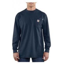 Carhartt - 886859005485 - Carhartt Large/Regular Dark Navy Knit Long-Sleeve Flame-Resistant T-Shirt, ( Each )