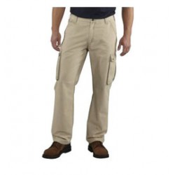 """Carhartt - 886859083193 - Carhartt Size 36"""" X 32"""" Tan 9 Ounce Canvas Straight Leg Cargo Pant With Zipper Front Closure, Right-leg cargo pocket with cell phone storage and pen stall And, ( Each )"""