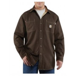Carhartt - 886859004105 - Carhartt X-Large/Regular Dark Brown Canvas Long-Sleeve Flame-Resistant Shirt Jacket With Twill Lining And Snap Front Closure And Two Chest Pockets With Rivet Reinforcements, ( Each )