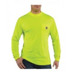 Carhartt - 886859133225 - Carhartt X-Large/Tall Brite Lime 4.25 Ounce Textured Knit Long Sleeve Color Enhanced T Shirt, ( Each )