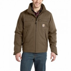 Carhartt - 886859605487 - Carhartt Large Regular Canyon Brown Jefferson Traditional ThinsulateLined 8.5 Ounce Quick Duck Cotton And Polyester Water Repellent Jacket With Front Zipper Closure, ( Each )