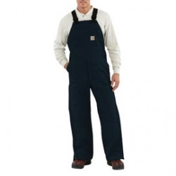 """Carhartt - 886859755588 - Carhartt Size 34""""-32"""" Dark Navy Cotton/Duck Flame-Resistant Bib Overalls With Insulated Lining And Zipper Closure And Ankle-To-Thigh Brass Leg Zippers With Nomex Fr Zipper Tape And Protective Flaps With Arc-Resistant"""