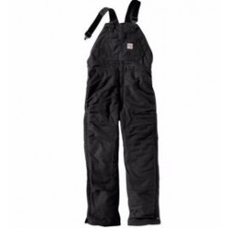 """Carhartt - 886859757087 - Carhartt Size 44"""" X 32"""" Black Cotton/Duck Flame-Resistant Bib Overalls With Zipper Closure And Ankle-To-Above Knee Brass Leg Zippers With Nomex Fr Zipper Tape And Protective Flaps With Arc-Resistant Snap Closures, ("""