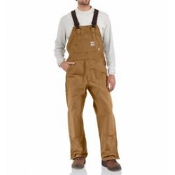 """Carhartt - 886859758794 - Carhartt Size 44"""" X 34"""" Carhartt Brown Cotton/Duck Flame-Resistant Bib Overalls With Zipper Closure And Ankle-To-Above Knee Brass Leg Zippers With Nomex Fr Zipper Tape And Protective Flaps With Arc-Resistant Snap"""