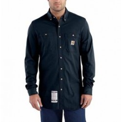Carhartt - 886859889801 - Carhartt Large/Regular Dark Navy Cotton Long-Sleeve Flame-Resistant Shirt With Button Closure And Carhartt Force Fights Odor And Fastdry Technology Wicks Away Sweat For Comfort, ( Each )